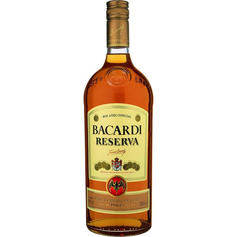 Bacardi reserva 1 litro Bacardi Rum 17,80€