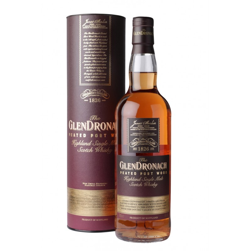 Whisky GLENDRONACH Peated Port Wood 46% 70cl The GlenDronach Whisky 68,00 €