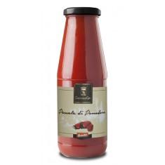 Giancarlo Ceci Tomato Puree demåler flaske fra 690 gr. x 6 flasker Giancarlo Ceci Italienske produkter Bio og Demeter 15,00€