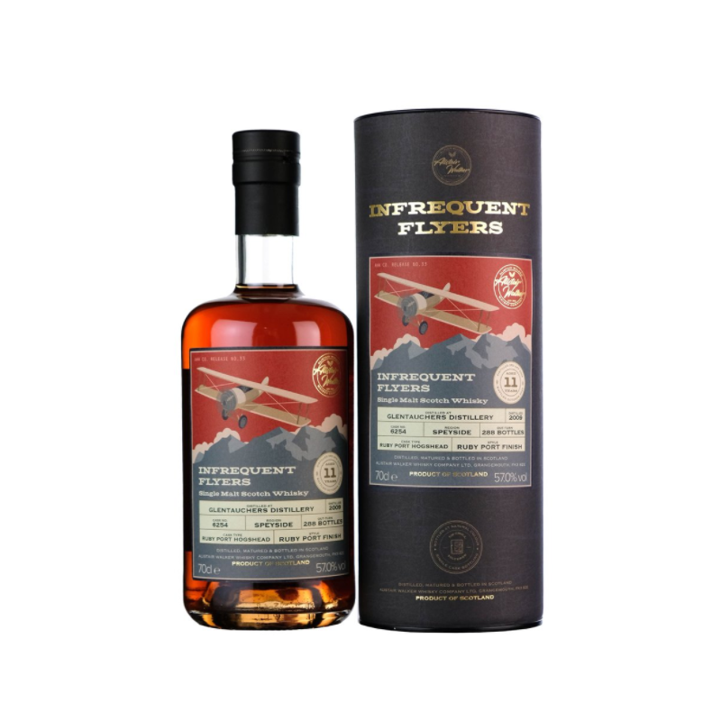 Infrequent Flyers Glentauchers 2009 cask 6254 - 11 YO - 57% Infrequent Flyers Whisky 65,26€