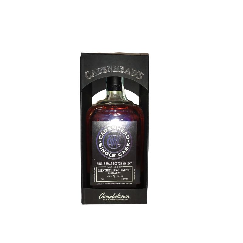 CADENHEAD'S SINGLE CASK GLENTAUCHERS - GLENLIVET 9 YO - 57,8% 70CL - SINGLE MALT SCOTCH WHISKY CADENHEAD'S Whisky 58,00€