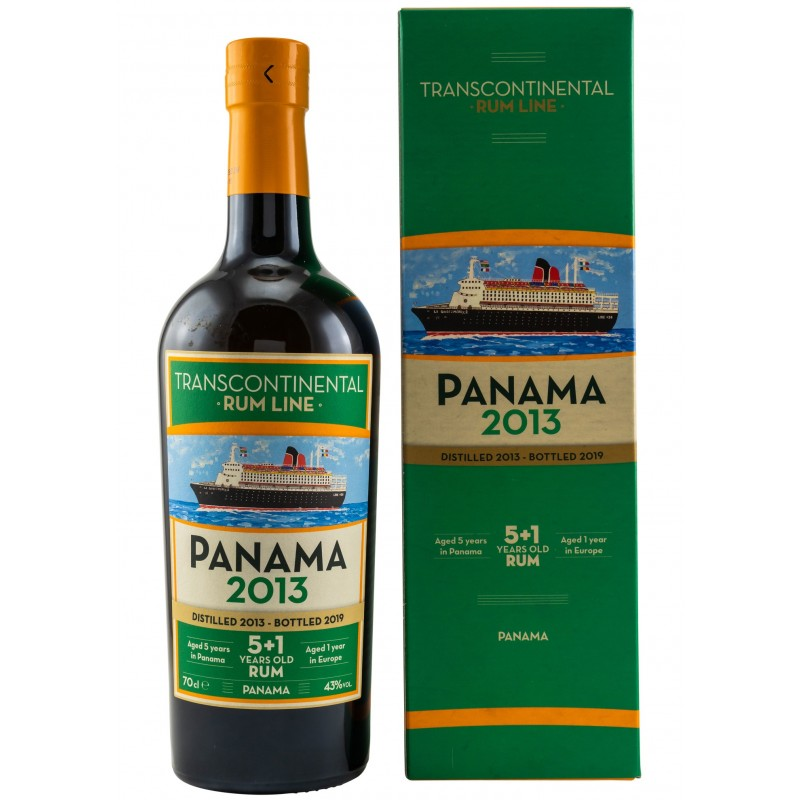 Transcontinental Rum Line Panama 2013 (70CL, 43.0% Vol.) Transcontinental Rum Line Rum 47,60€