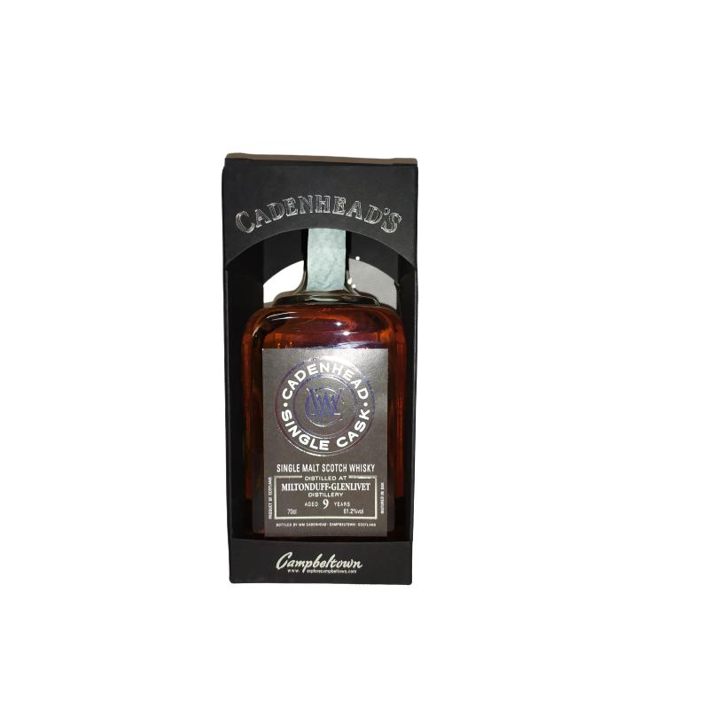 CADENHEAD'S SINGLE CASK MILTONDUFF - GLENLIVET 9 YO - 61,2% 70CL - SINGLE MALT SCOTCH WHISKY CADENHEAD'S Whisky 58,00€